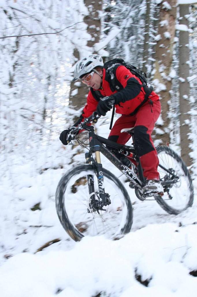 Spaß im Schnee MTB Winter
