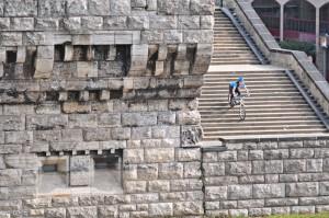 MTB Treppen mit Spaß