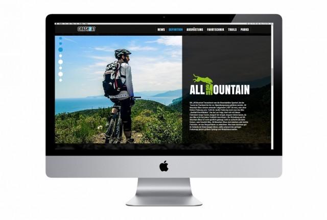 Web-Projekt: Crashcat Mountainbiking online!