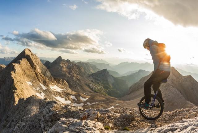 Alpen-Genuss auf dem Einrad - Foto: Markus Greber