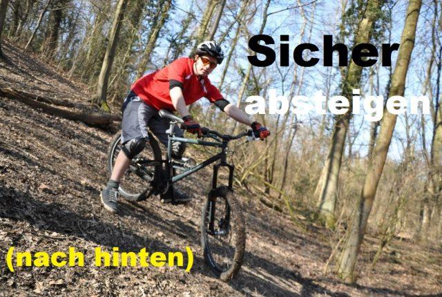Sicher absteigen: Fahrtechnikvideo für Trail-Biker/innen